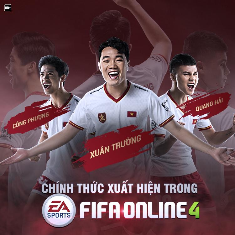Chính thức được trải nghiệm Quang Hải, Xuân Trường, Công Phượng trong FIFA Online 4